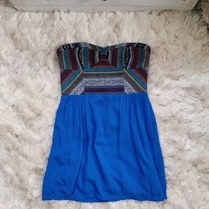 UO Staring at Stars Embroidered Strapless Tunic
